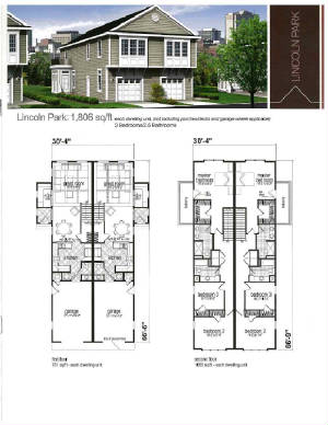 Large duplex fourplex floorplans for Fourplex plans with garage